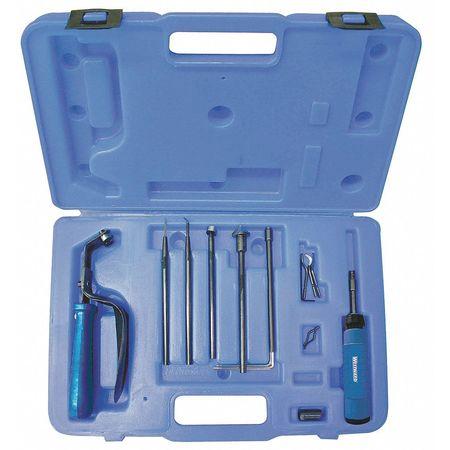 WESTWARD Deburring Tool Kit,Series E,5 Pcs 4KTV1