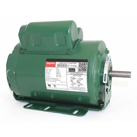 Farm Duty Mtr CS CR TEAO 1hp 1725rpm Model 4K124 by USA Dayton AC Farm Duty Motors