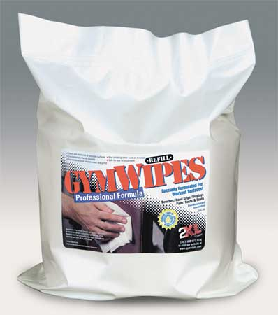 4LFA3 Gym Equipment Wipes Refill, 8 In. x 7 In.