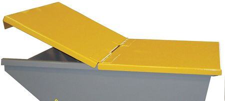 Value Brand Hopper Lid Yellow Fits 1 cu. yd.