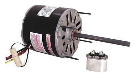 Condenser Fan Motor 3/4 HP 1075 rpm 60Hz Model BDH1076 by USA Century Permanent Split Capacitor Condenser Fan Motors