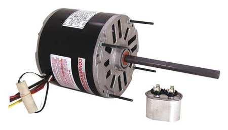 Condenser Fan Motor 1/4 HP 1625 rpm 60Hz Model BDH1024 by USA Century Permanent Split Capacitor Condenser Fan Motors