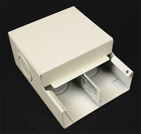 Entrance End Ivory Steel Ends Model V4010DFO by USA Legrand Electrical Raceway Fitting Accessories