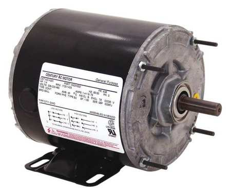 Motor Split Ph 1/4 HP 1725 115V 48Z Open by USA Century HVAC Belt Drive Motors