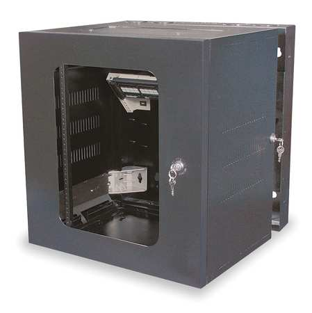 Cabinet 36in H 20 in D 19 Rack Units Blk by USA Hubbell Voice & Data Communication Cabinets