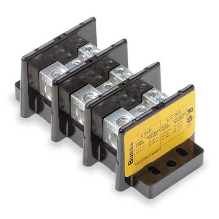 Pwr Dist Block 175A 3P 6P Secondary 600V by USA Bussmann Electrical Wire Power Distribution Blocks