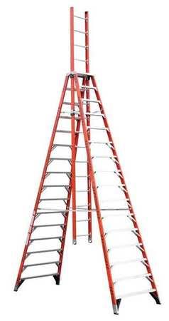 Werner 16 Fiberglass 300 Lb Trestle Extension Ladder