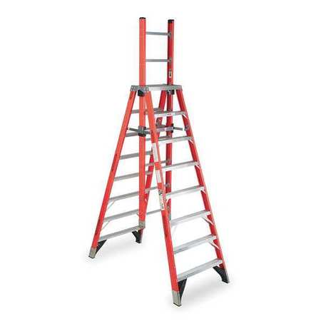 Werner 8 Fiberglass 300 Lb Extension Ladder Type Ia