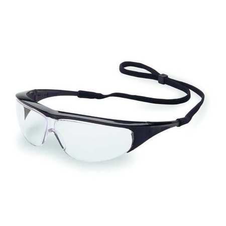 4YH38 Safety Glasses, Clear, Scratch-Resistant