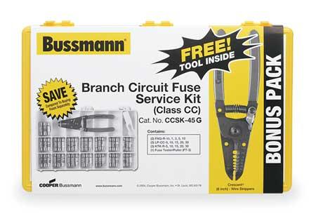 Fuse Kit 45 FNQ R LP CC KTK R CC/Midget by USA Eaton Bussmann Circuit Fuse Accessories