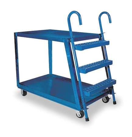 Vestil Stock Picking Ladder Cart 35-1/2 In. H
