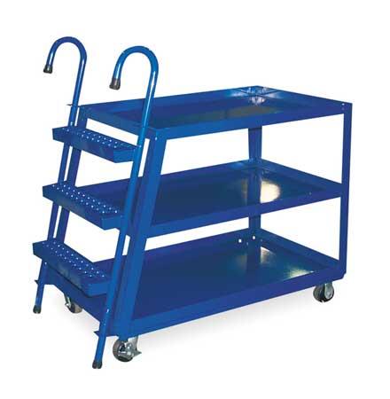 Vestil Stock Picking Ladder Cart 1000 lb Blue