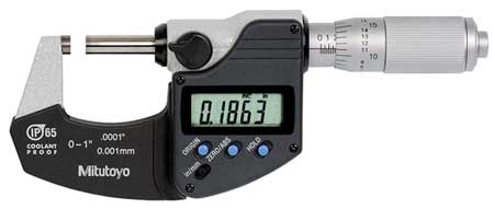Mitutoyo Electronic Micrometer 0 1 In 0.0001 In