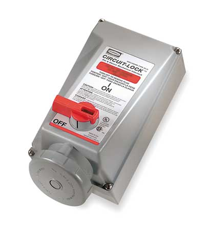 Mechanical Interlock Unfused 60A 15 HP by USA Hubbell Kellems Electrical Pin & Sleeve Receptacles