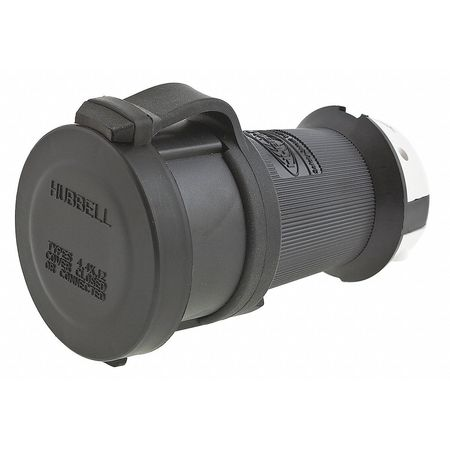 30A Watertight Locking Connector 4P 5W 120/208VAC by USA Hubbell Kellems Electrical Locking Connectors