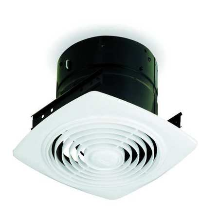 "8 and 10"" Ceiling Exhaust Fans with Plastic Grille"