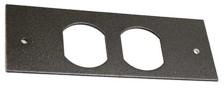 Duplex Faceplate Fitting Gray Steel by USA Wiremold Electrical Raceway Fitting Accessories