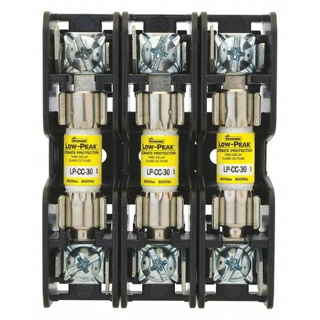 Fuse Block 30A PressurePlate 18 to 10AWG Model BCM603 3P by USA Eaton Bussmann Circuit Fuse Blocks & Holders