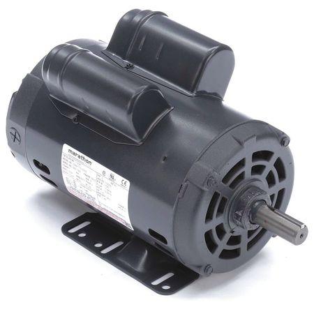 Motor 1/3HP 14 3/16in.L Keyed 7/8in.dia by USA Marathon General Purpose Capacitor Start AC Motors