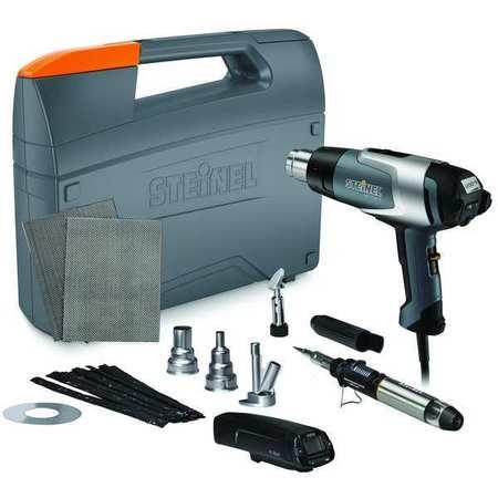 Heat Gun Kit,120VAC,13.3 Amps AC,1600W -  STEINEL, HG2320KITw/scan