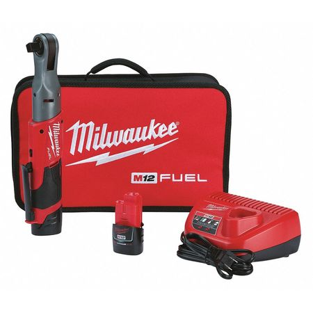 Milwaukee 2558-22 M12 FUEL 1/2 Ratchet with 2 Batteries and Charger Kit
