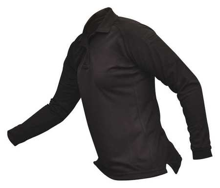 Womens Tactical Polo,black,lng Sleeve,xs