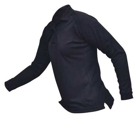 Womens Tactical Polo,navy,long Sleeve,l