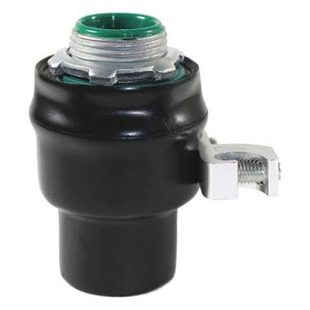 Connector 1 1/2in. Strt Lt W/Grd PVC Ctd by USA Calbond Electrical Conduit Fittings
