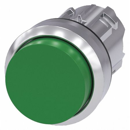 Push Button Operator Green Metal Bezel Model 3SU1050 0BB40 0AA0 by USA Siemens Electrical Pushbutton Accessories