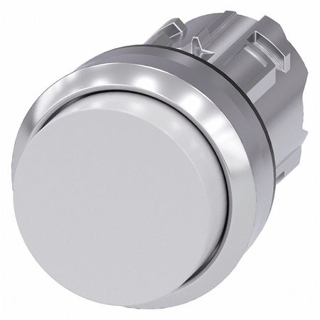 Push Button Operator White Metal Bezel Model 3SU1050 0BB60 0AA0 by USA Siemens Electrical Pushbutton Accessories
