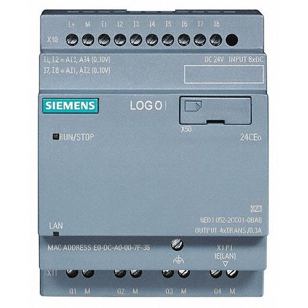 Controller 8 Inputs 4 Outputs Model 6ED10522CC010BA8 by USA Siemens Industrial Automation Programmable Controller Accessories