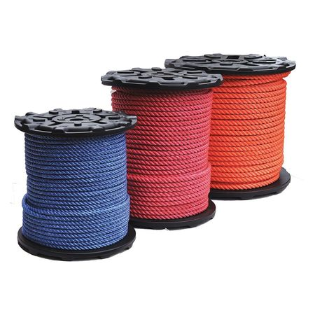 """All Gear Rigging Line Rope 600 ft. L 1/2"""" dia. Bl"""