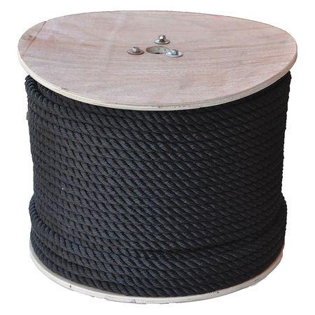 "All Gear Rope 2-1/2 ft. L 1/2"" dia. Black"