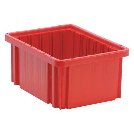 Grid Container,red,10.88  X 8.25  X 5 In
