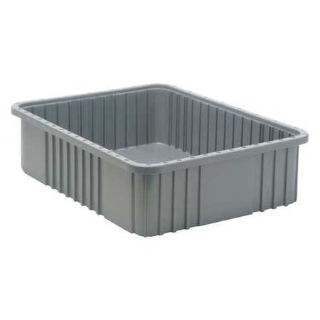 Grid Container,gray,22.5 X 17.5 X 6 In.
