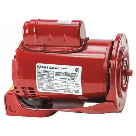 Xylem bell gossett motor 3 4 hp 1750 rpm 1 phase for Bell gossett motors