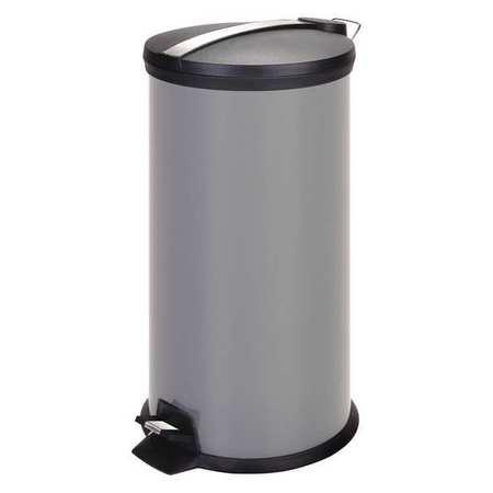 Metal Step Trash Can,30 Liter,Gray