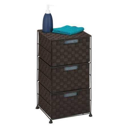 honey can do wheeled cart 3 drawer espresso ofc 03714