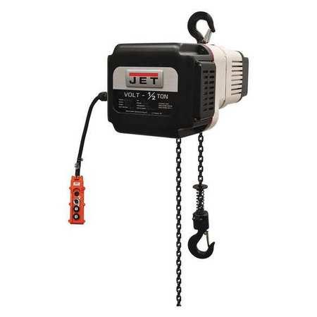Jet Electric Hoist 3Ph 460V 10ft Lift 1/2Ton