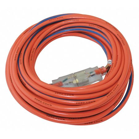 100 ft. 14/3 SJTW Lighted Extension Cord OR/BL by USA Zoro Extension Cords