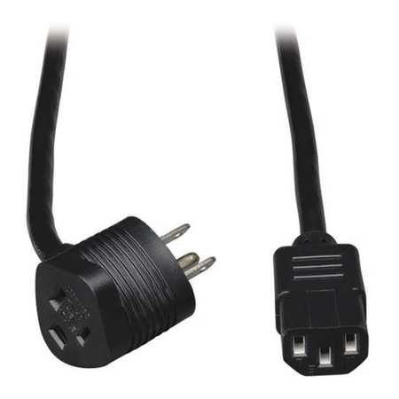 Power Cord 5 15P to C13 Piggyback 6ft by USA Tripp Lite Electrical Power Supply Cord