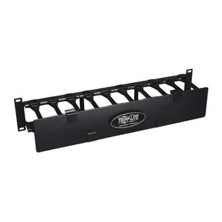 Cable Manager Finger Duct Dual Cover 2U by USA Tripp Lite Voice & Data Communication Cabinets