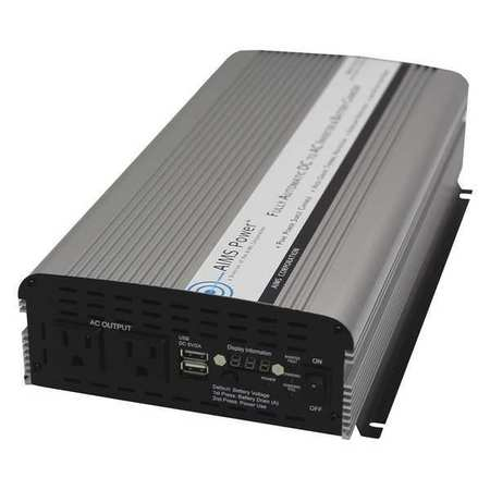 Modified Sine Inverter 1500W w/Charger by USA Aims Power Electrical Power Inverters