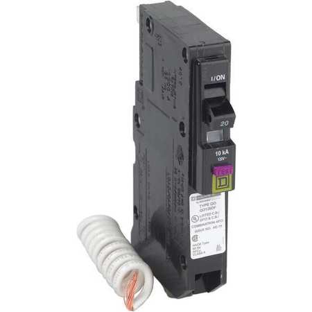 Circuit Breaker 20A 1 Pole Dual Function Model QO120DF by USA Square D Circuit Breakers