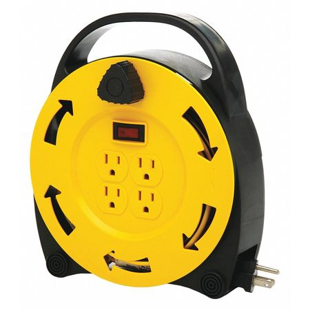 Cord Caddy 20ft. 16/3 Cord 4 Outlets Min. Qty 6 by USA Designer's Edge Extension Cord Reels