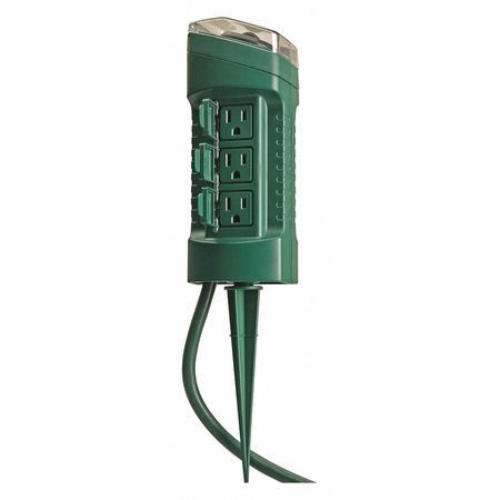 Yard Stake 6 Outlet w/Timer Min. Qty 6 by USA Woods Electrical Plug In & Wall Switch Timers