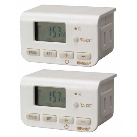 Indoor 24 Hr Digital Timer (combo) Min. Qty 6 by USA Woods Electrical Plug In & Wall Switch Timers