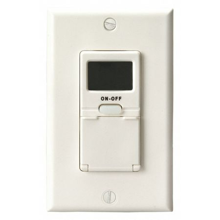 In Wall 7 Day Digital Timer White by USA Woods Electrical Plug In & Wall Switch Timers