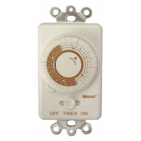 In Wall 24 Hr Timer Min. Qty 6 by USA Woods Electrical Plug In & Wall Switch Timers