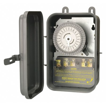 DPST Time Switch Outdoor 40A Min. Qty 2 by USA Woods Electrical Plug In & Wall Switch Timers